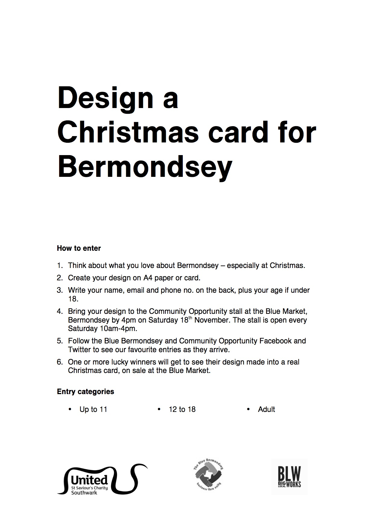 20171103 Design a Christmas card for Bermondsey